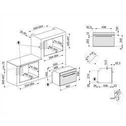SMEG COMPACT COMBI MICROWAVE OVEN SF4101MCN1 BLACK 45 CM
