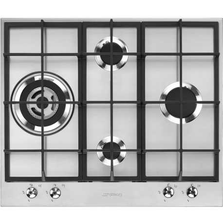 SMEG GAS HOB PX364L STAINLESS STEEL CLASSIC AESTHETIC 60 CM