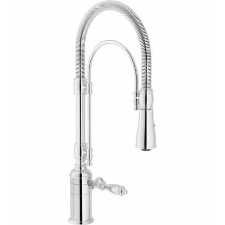 NOBILI SINGLE LEVER SINK MIXER TAP SERIES 'CHARLIE' PULL OUT SPRAY CHROME