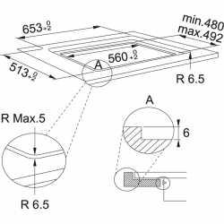 FRANKE INDUCTION HOB MARIS FMA 654 I F BLACK GLASS 65 CM